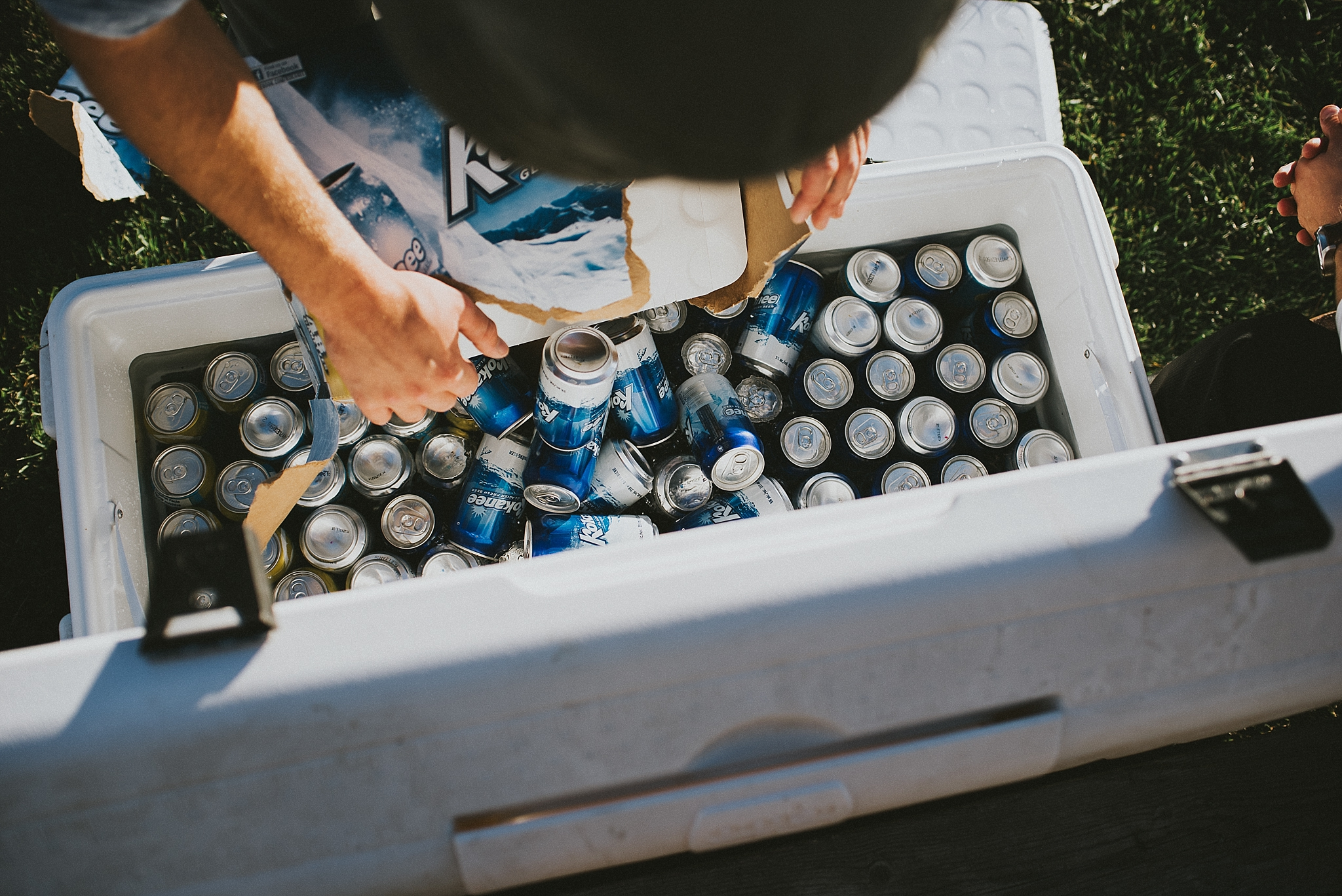 kananaskis elopement reception cooler kokanee