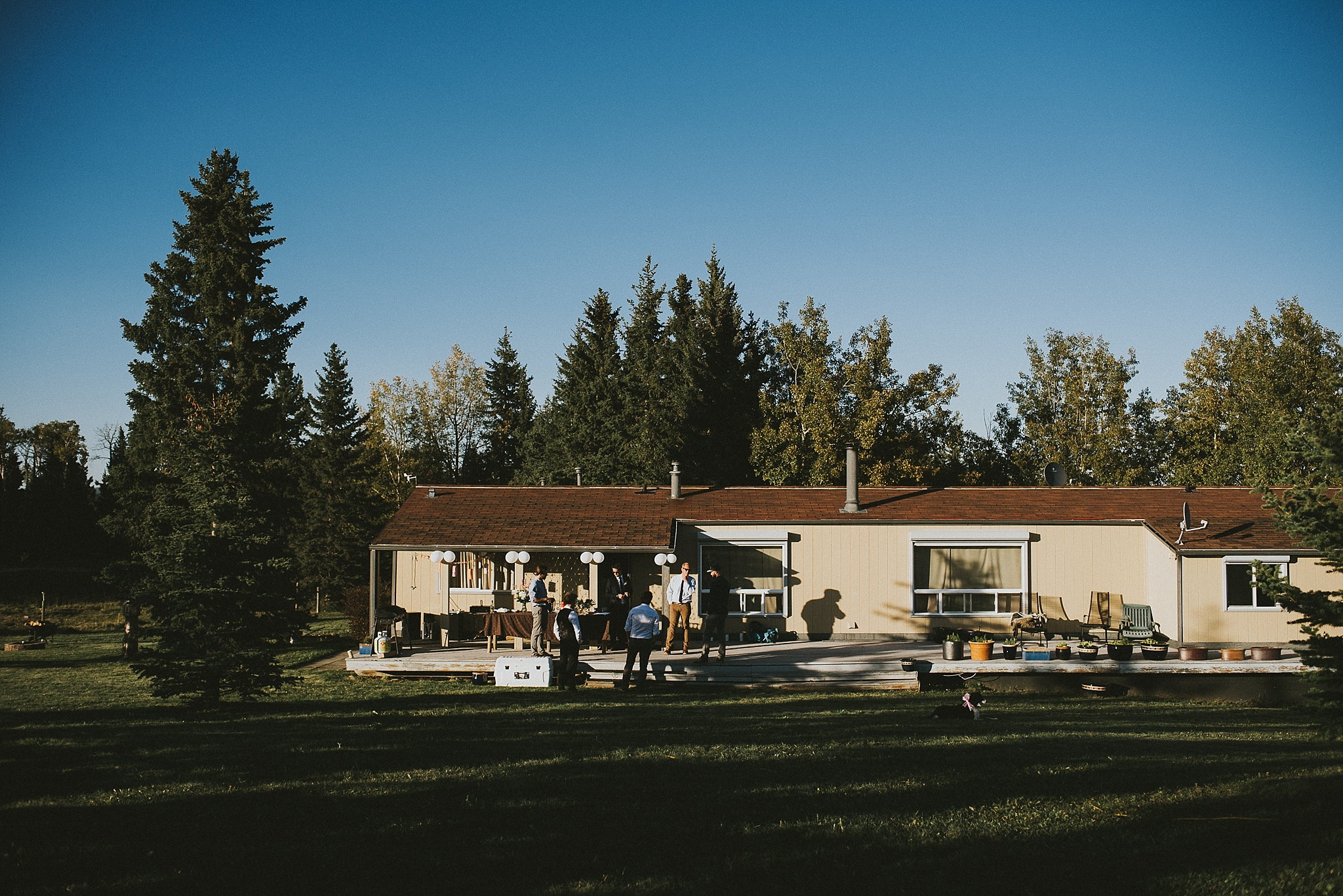 kananaskis elopement reception house friends family