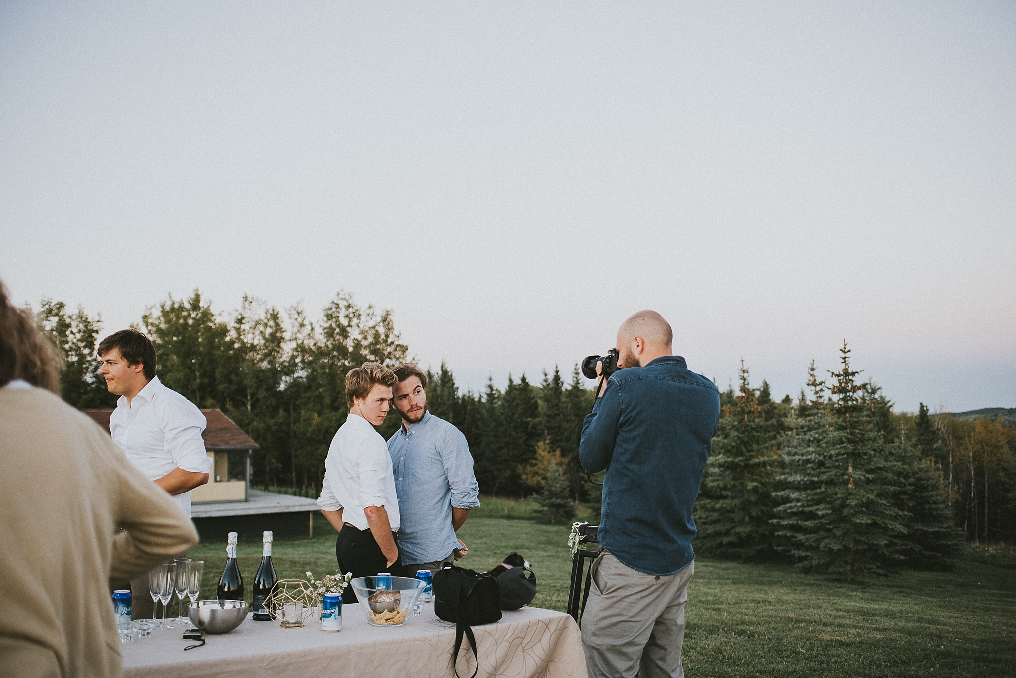 candid guest funny reception kananaskis elopement