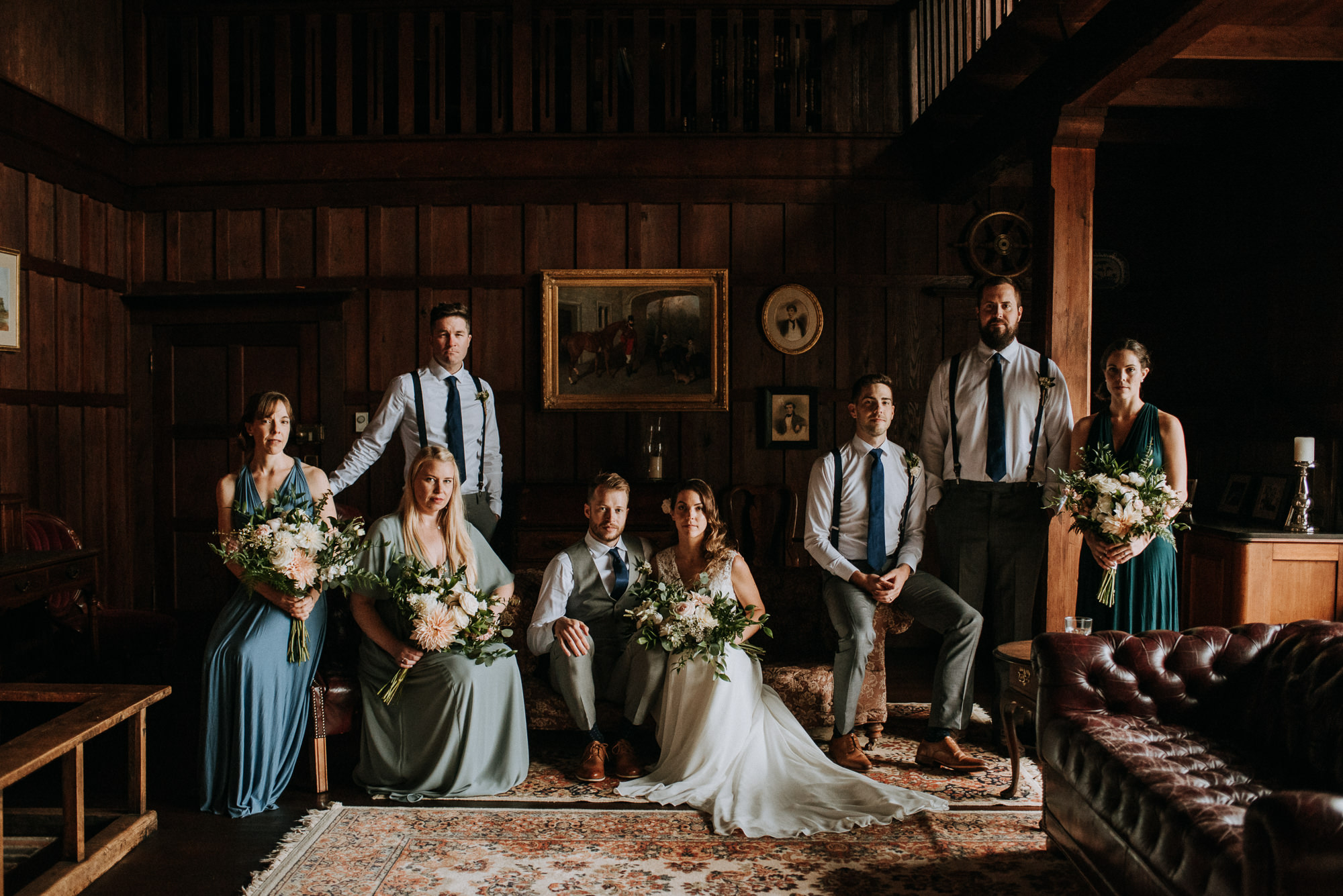 Overbury Resort Wedding Party Group Photo