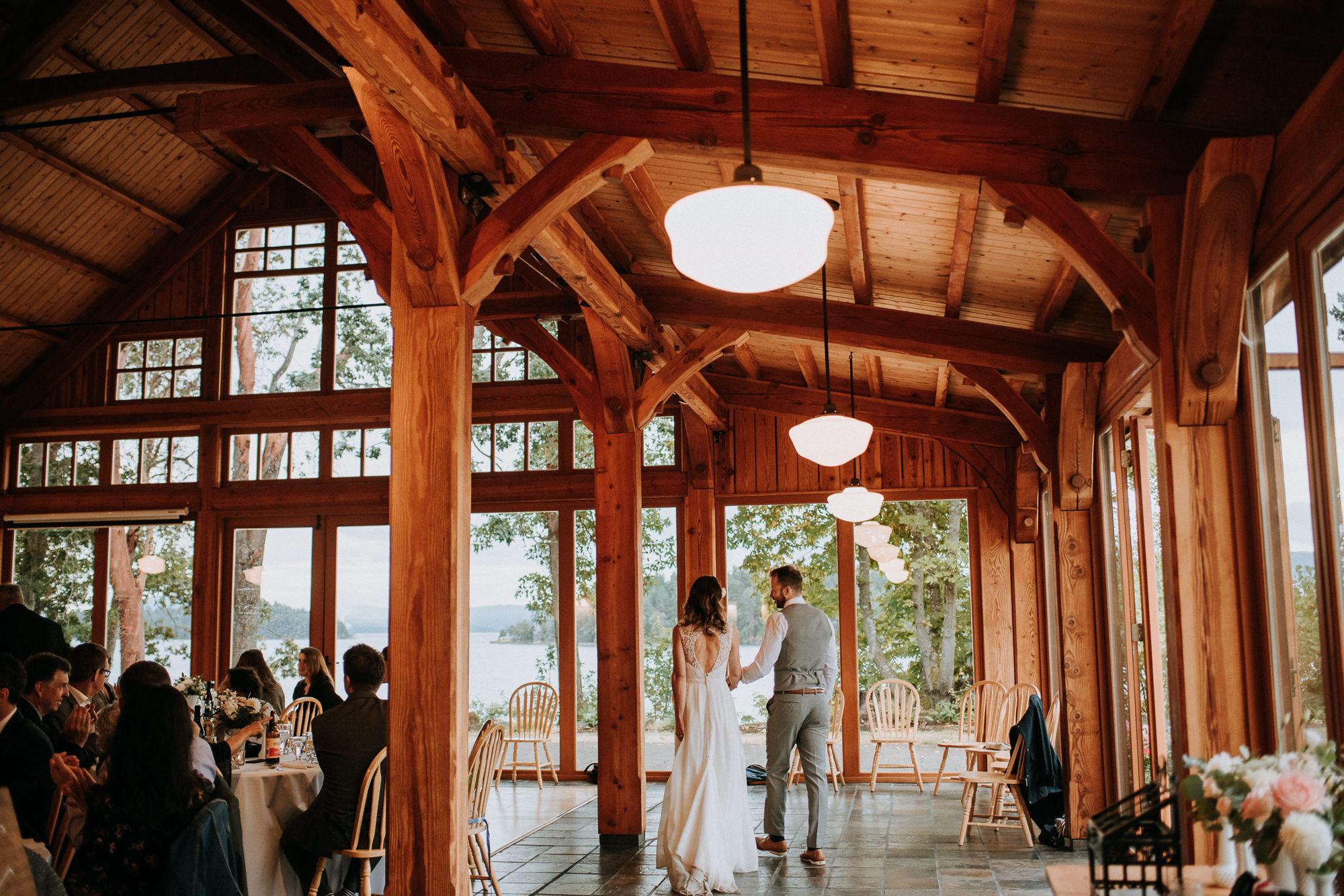Overbury Resort Wedding Reception Thetis Island