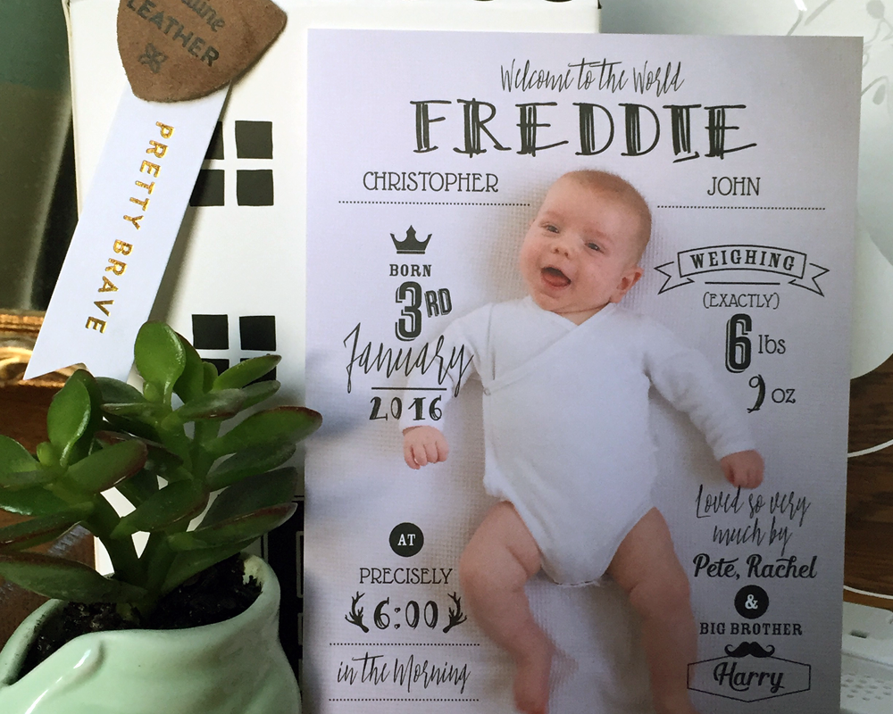 birth announcement card