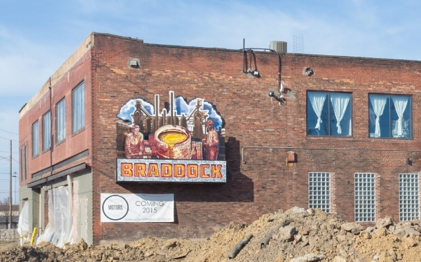 Superior Motors and Braddock, under construction. And it's all good....