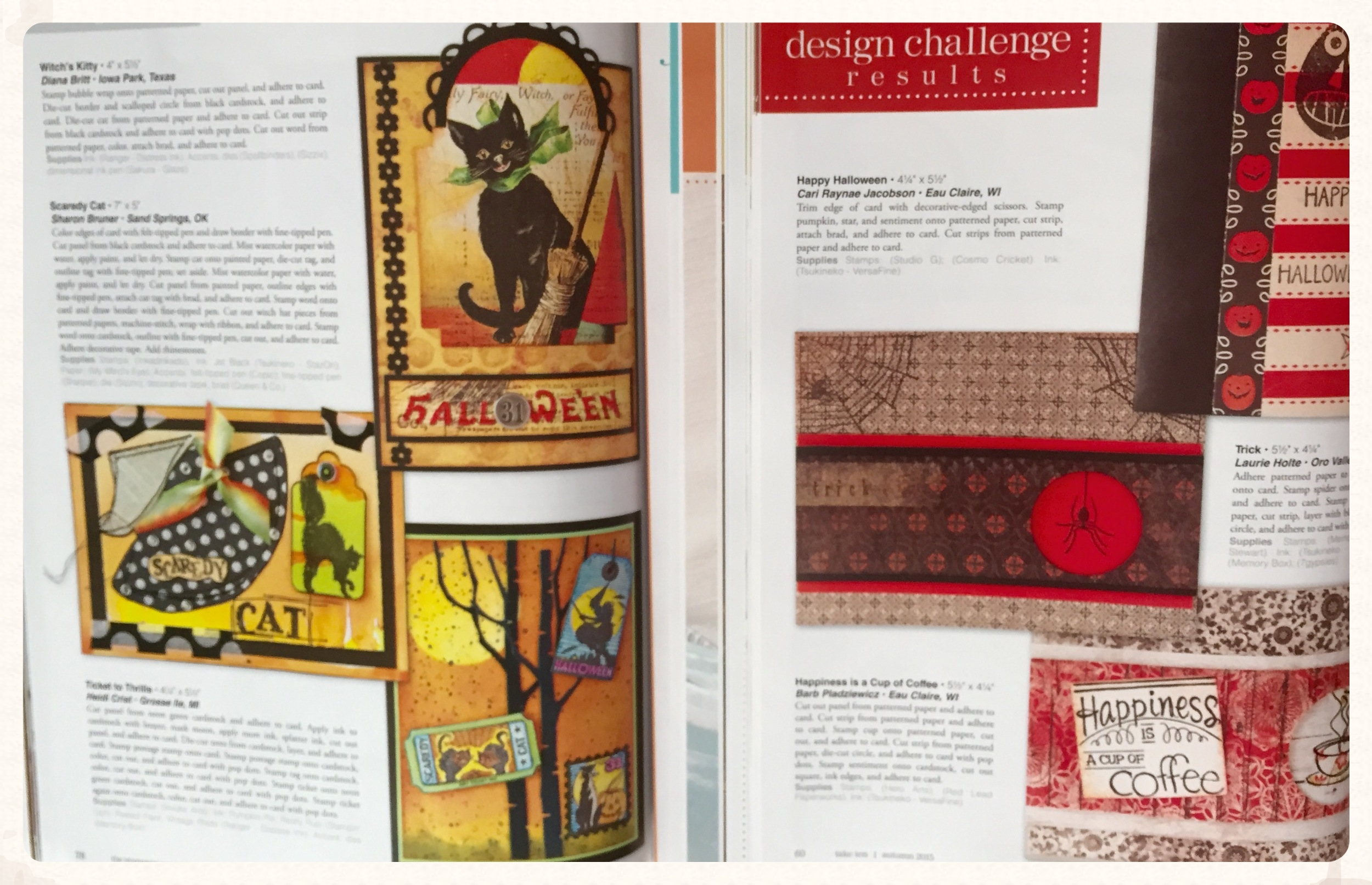 The purpose of all creations in Take Ten (on right)are to be able to recreate the designs in 10 minutes or less - quick and easy designs by artists.