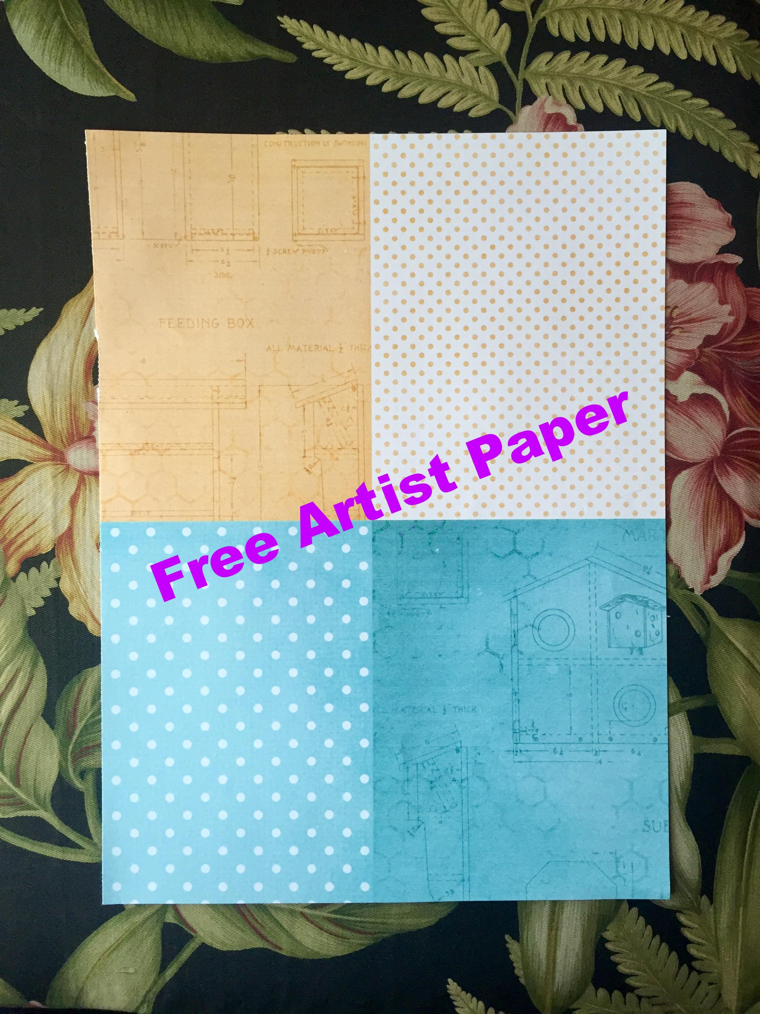 Free Artist Paper