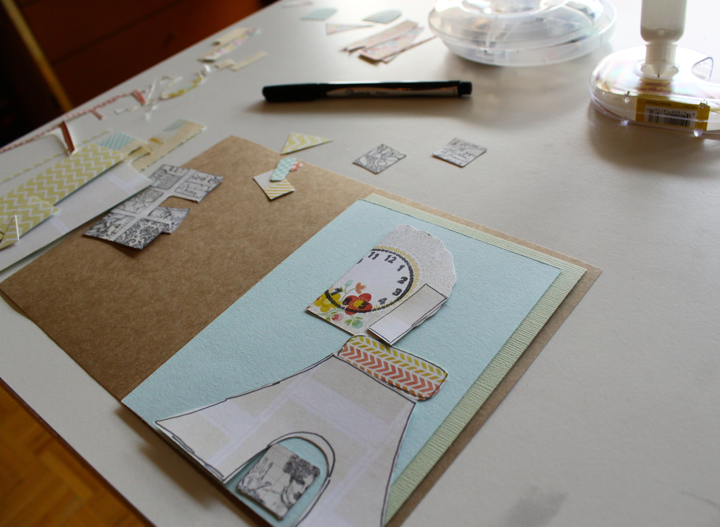 Scraps On My Table Turn Into Feature in The Stampers' Sampler