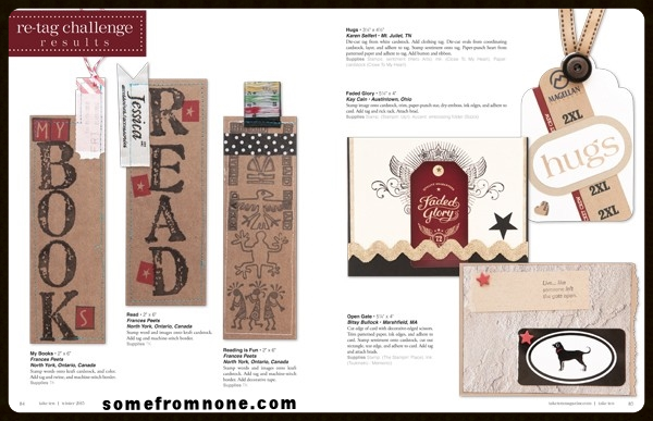 My bookmarks (left) published in   Take Ten Magazine  , Winter 2015