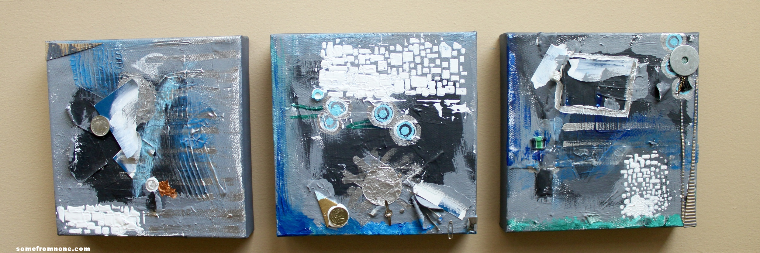 Reposition these canvases any which way they tell a story.