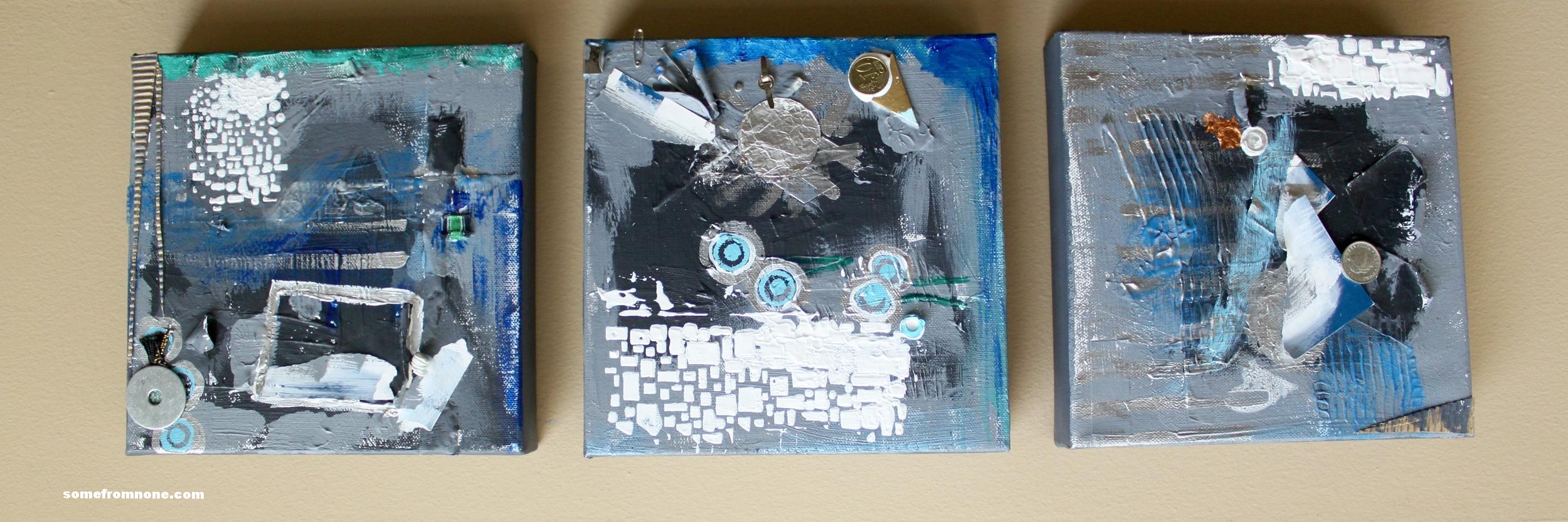 """Throw Away World"" 8"" X *8 Repositionable Art on Canvas"