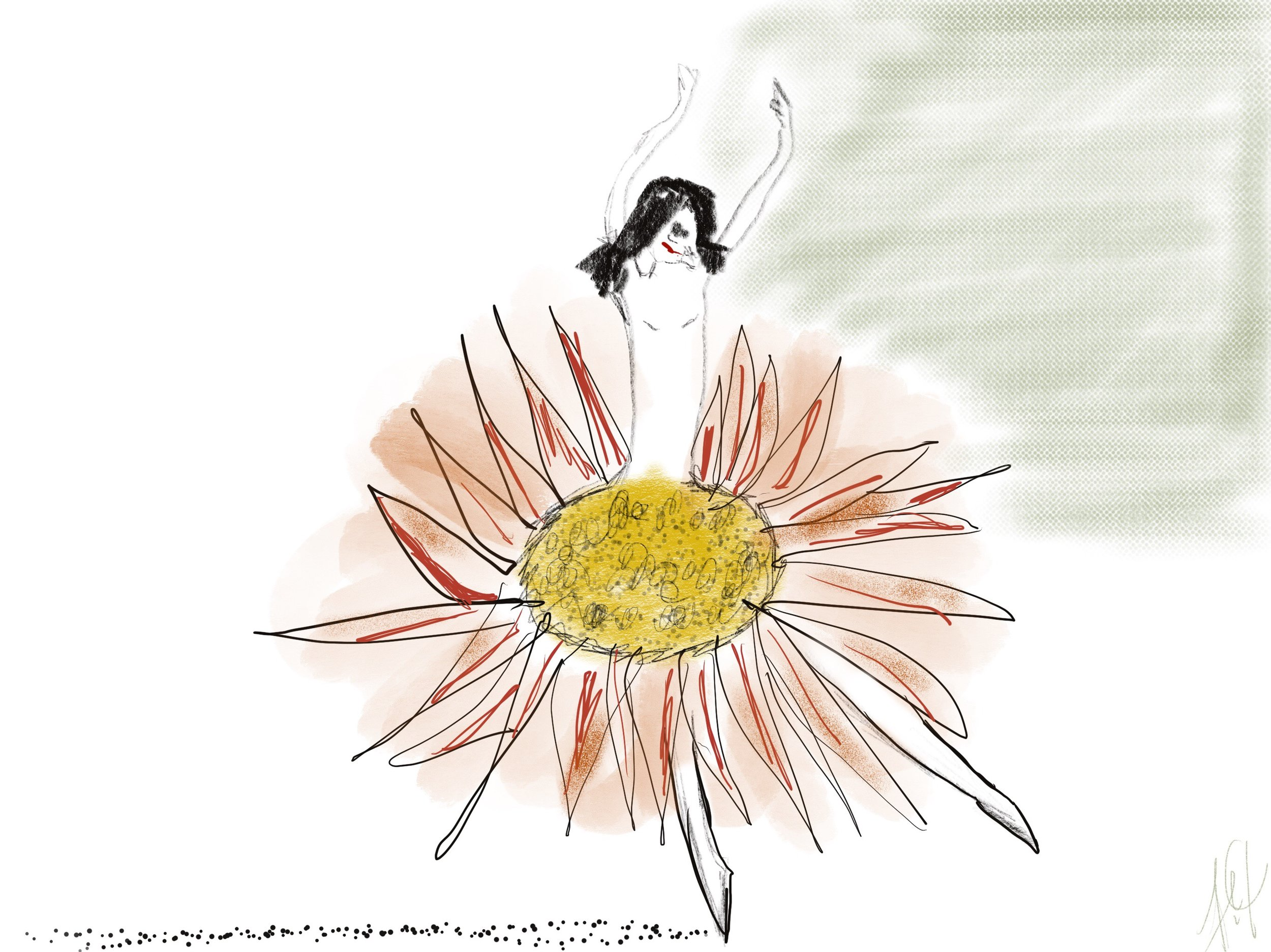 """""""Isn't She Lovely"""" by Frances Peets - creative inspiration from the drawings of  Linda Wolfsgruber"""