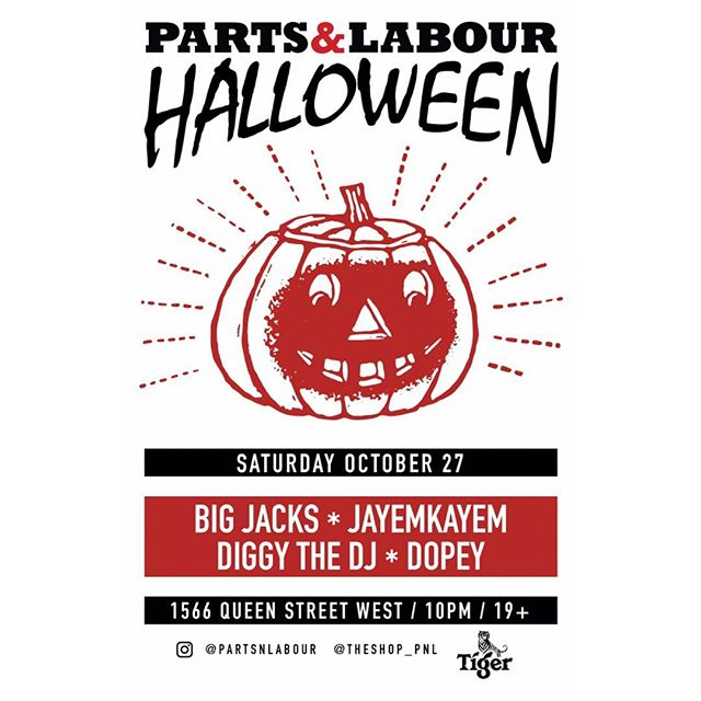 This Saturday we celebrate Halloween! Music by @djbigjacks @jayemkayem @diggythedj & @djdopey! Party starts at 10PM!