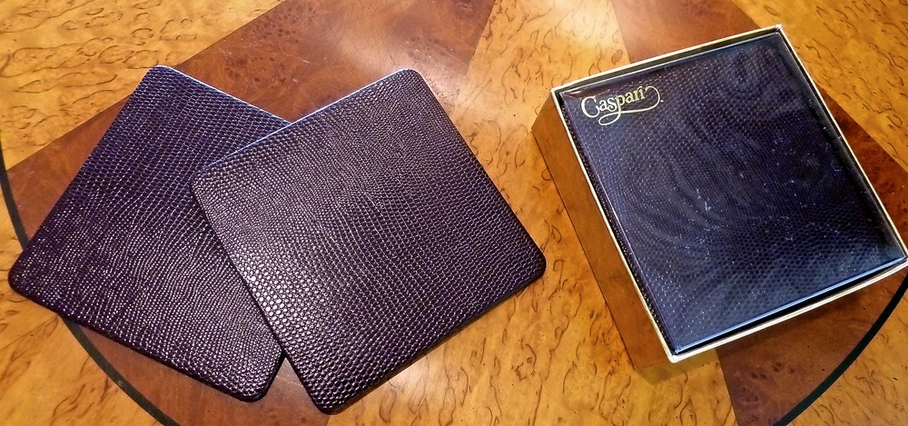 Caspari provides a manly touch to coasters and they have so many choices .