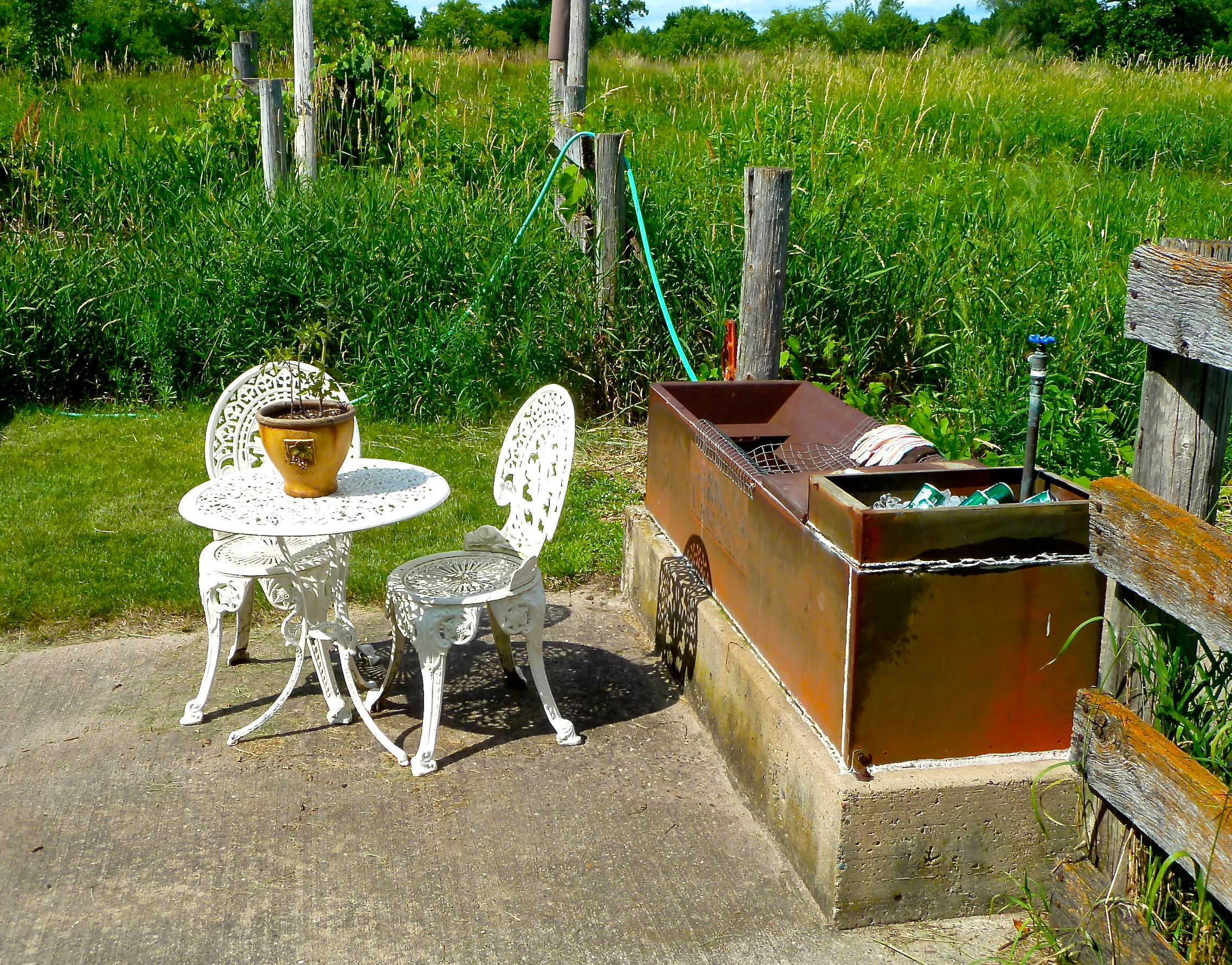 A Spirited Garden Table for Two Please...