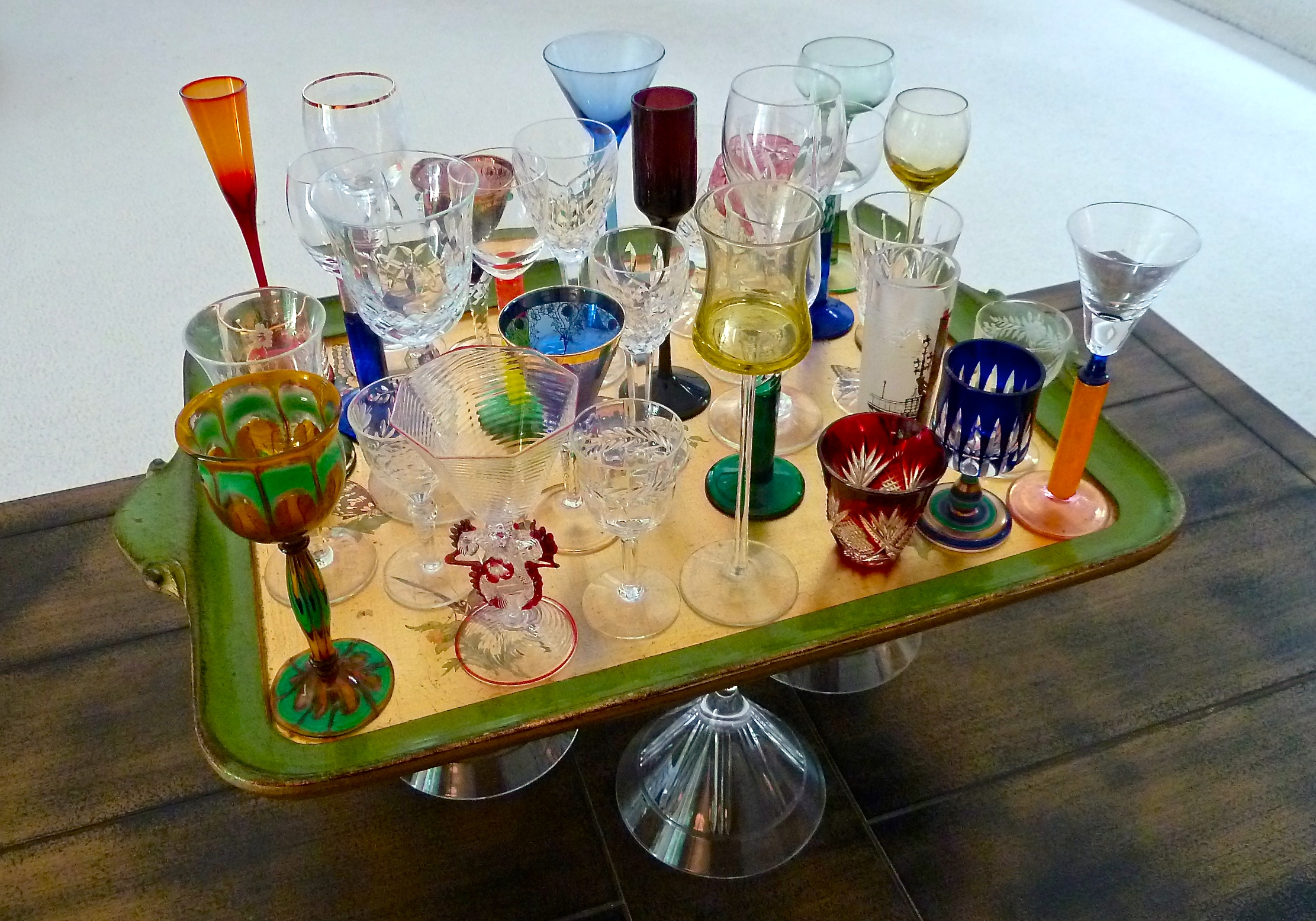Liquer Glasses Front and Center