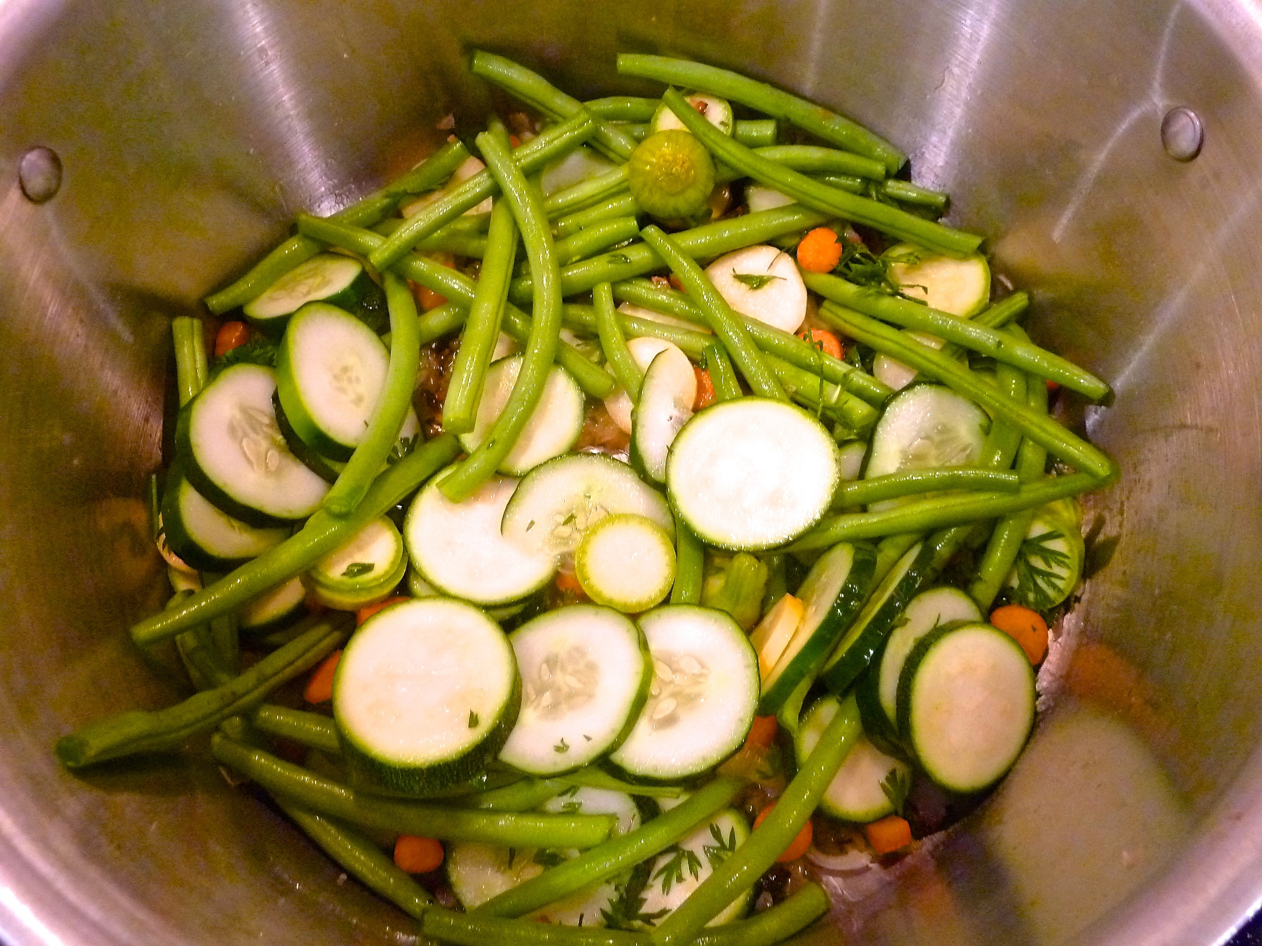 Dump all Veges In the Pot