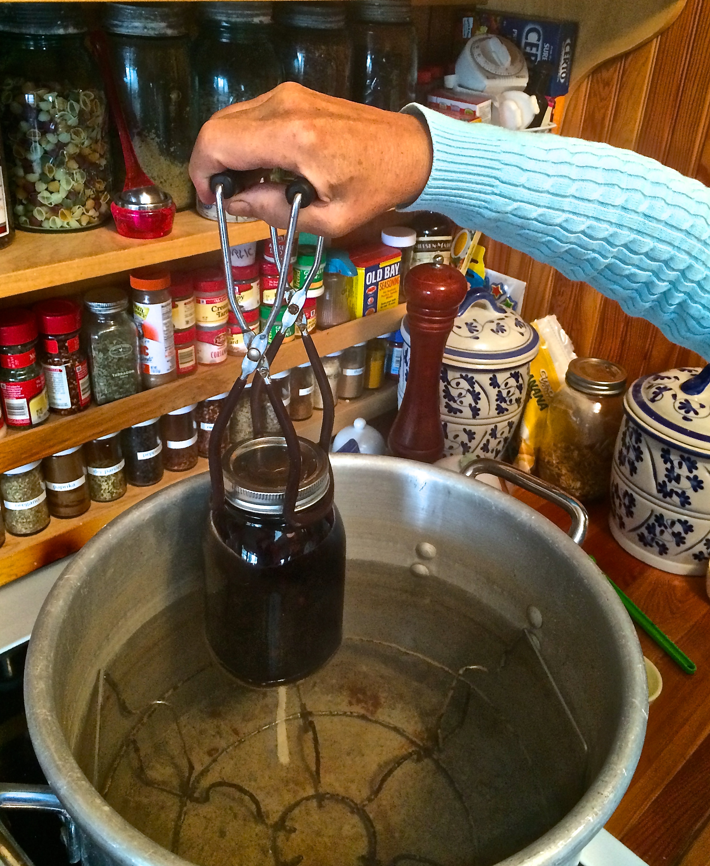 Use Tongs to Seal Jar with Heat