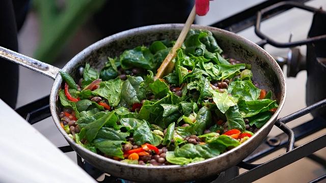Warm Orca Bean Salad with Seasonal Vegetables