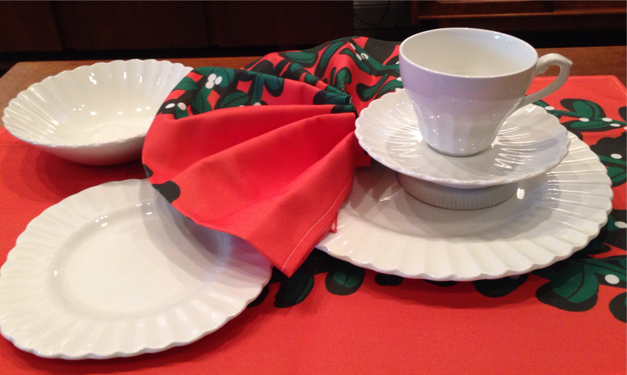 J&G Meakin china in white | service for 12 | $240