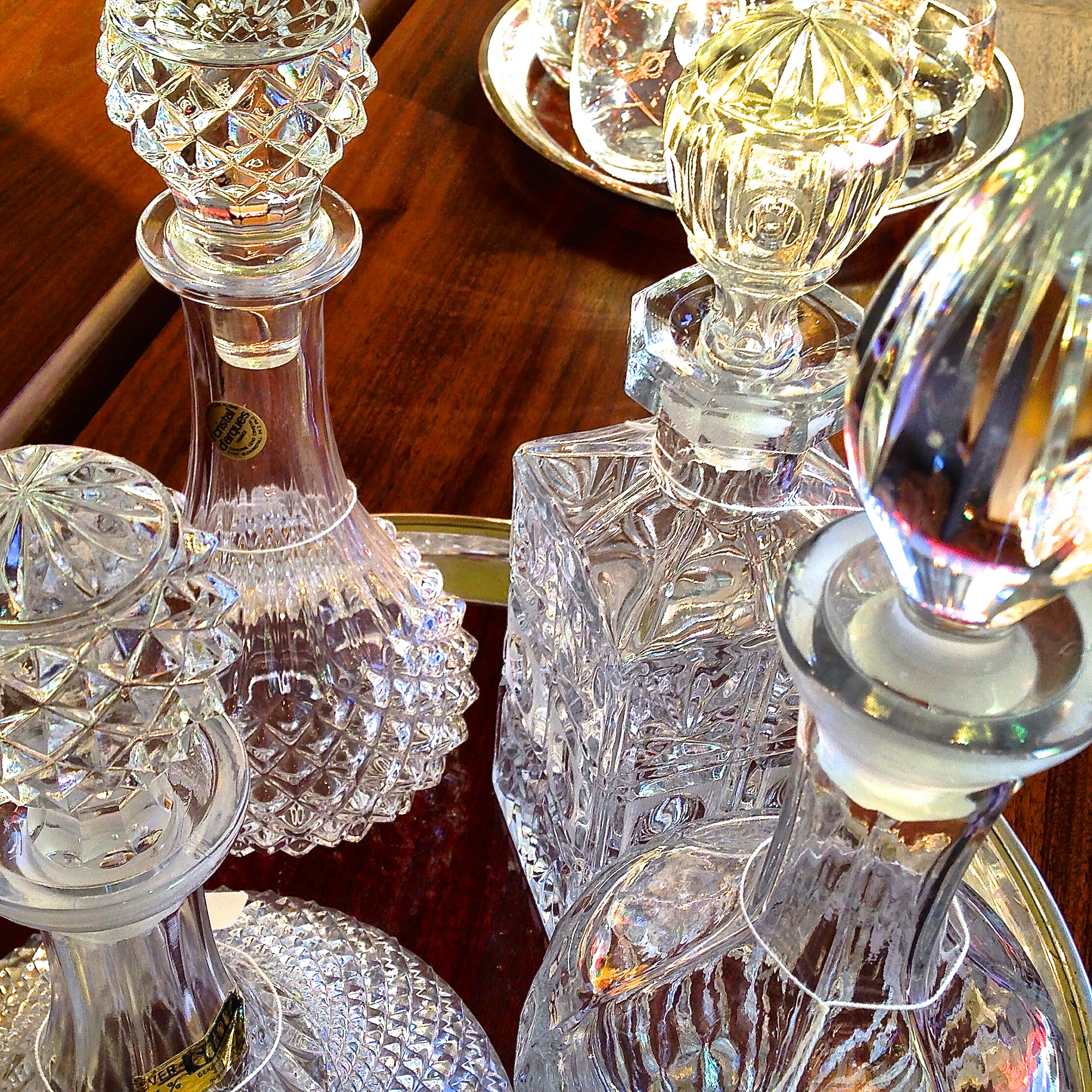 Crystal decanters | $40 to $75