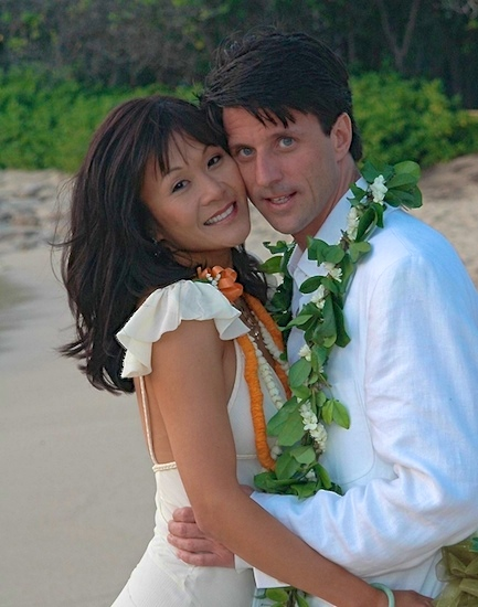 If I win, my hubby Matthew and I will renew our vows in Hawaii where we got married originally.