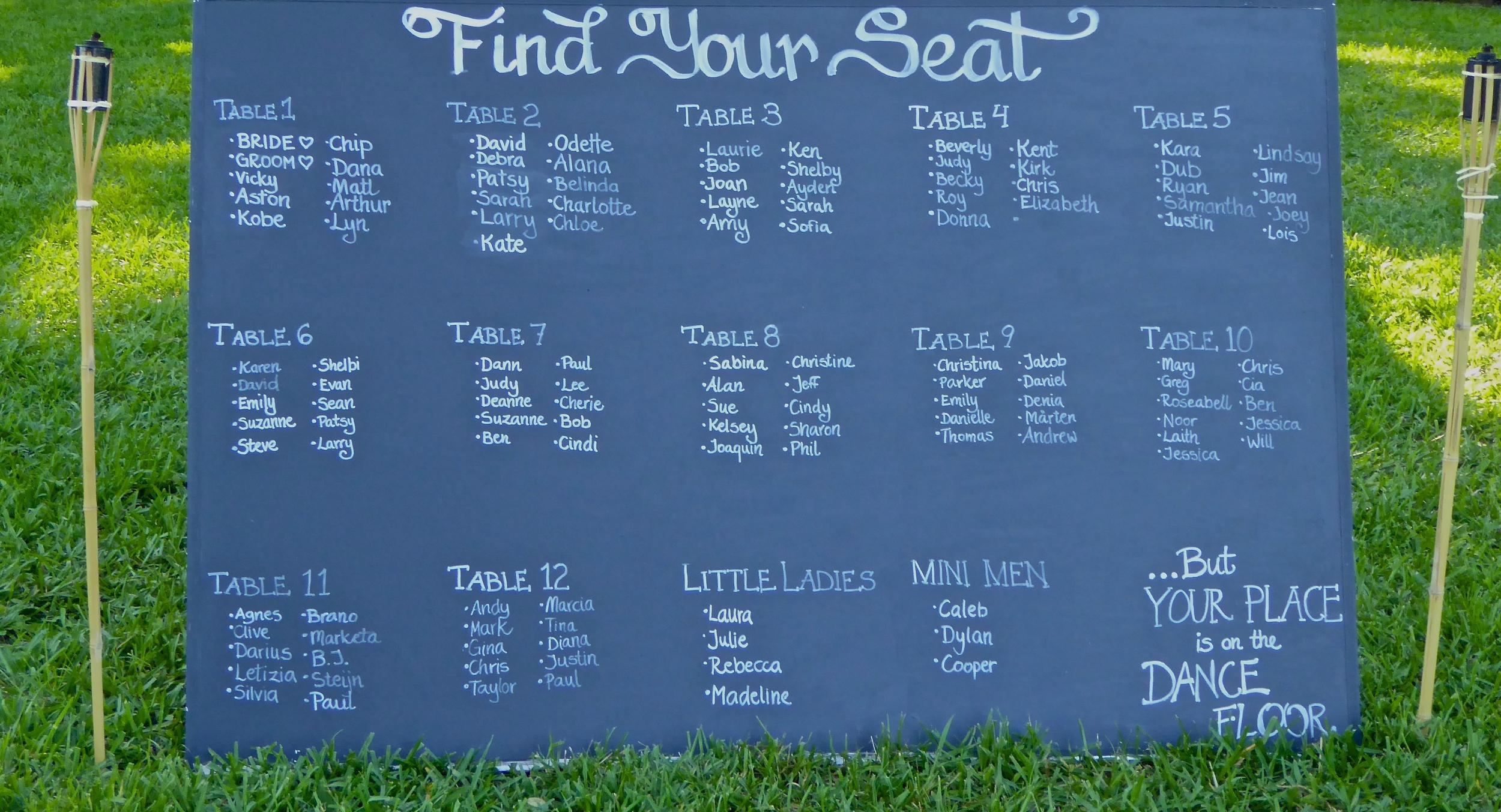 Cool seating board
