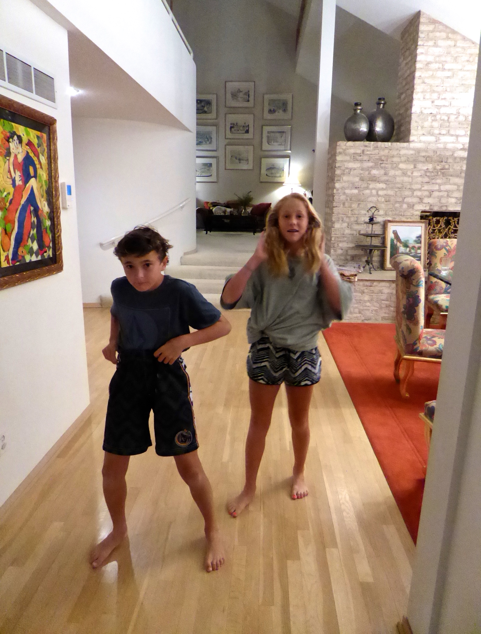 Ayla and Leland celebrate their great 7 course dinner creation