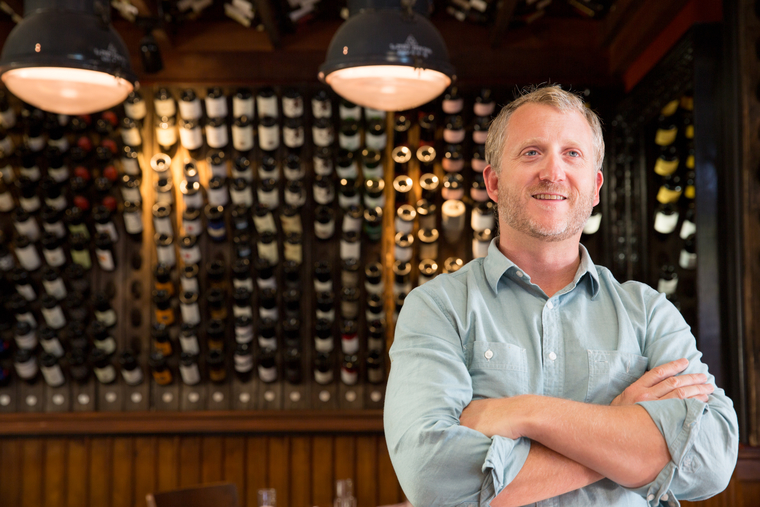 Sommelier James Lechner of Stoneburner