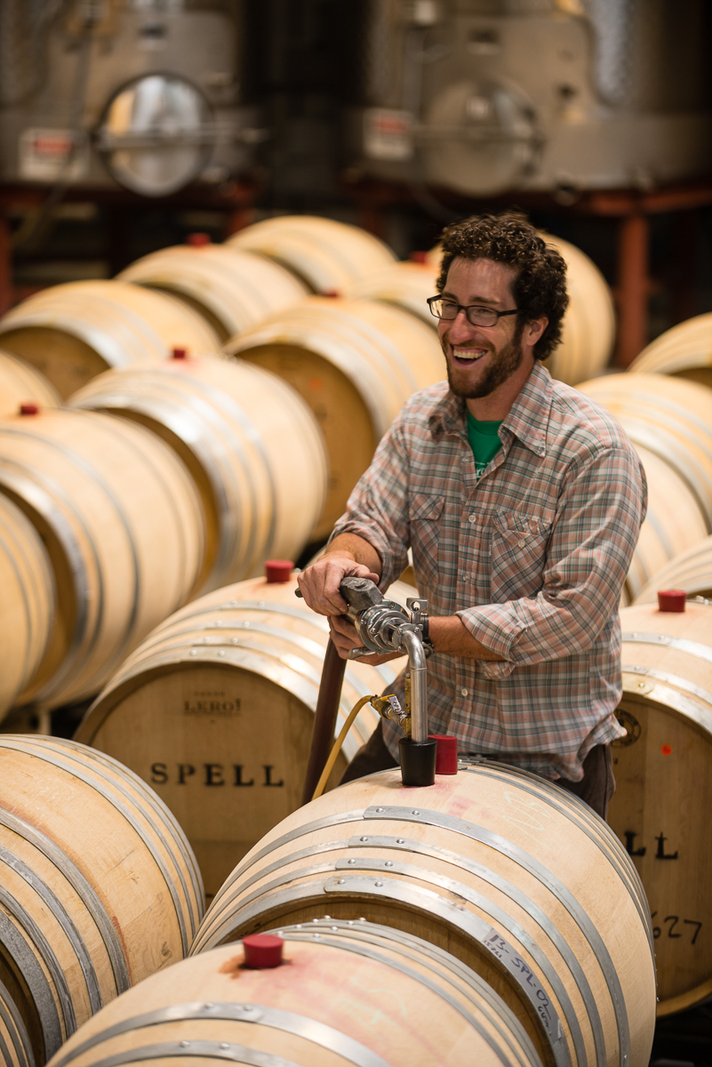 Head winemaker, and new  Tastemaker in Residence , Andrew Berge, crafts some excellent Pinots and Chards for Spell Estate.