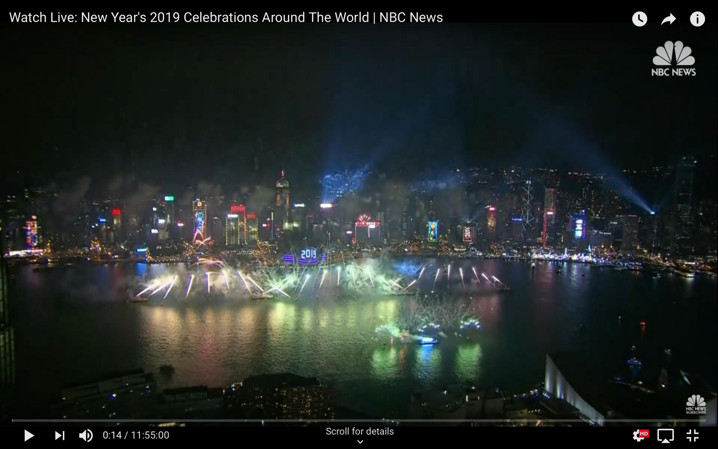 NYEve 2018 Celebrations Around the World -NBC News YouTube
