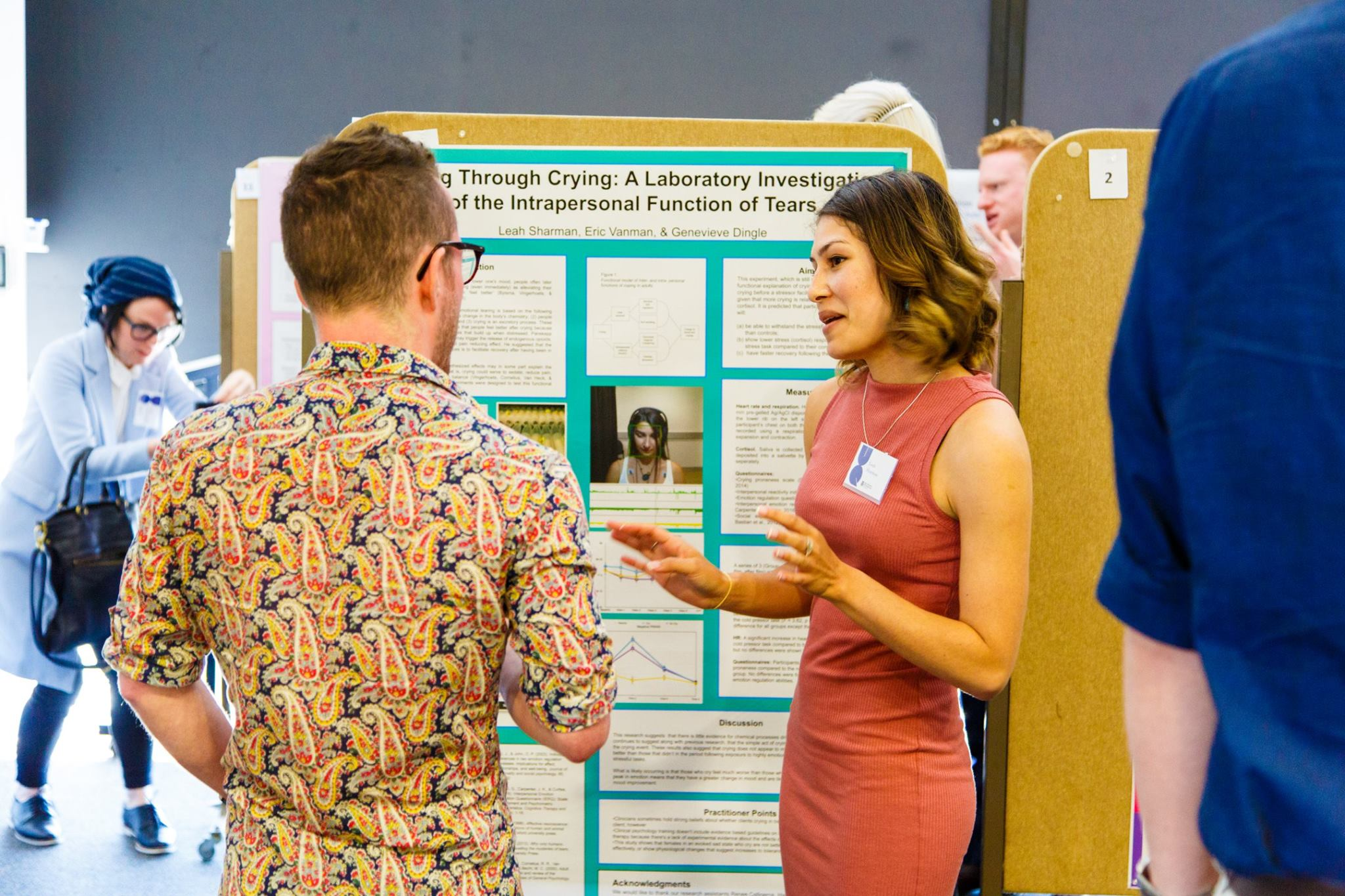 Leah presents her recent research on crying.