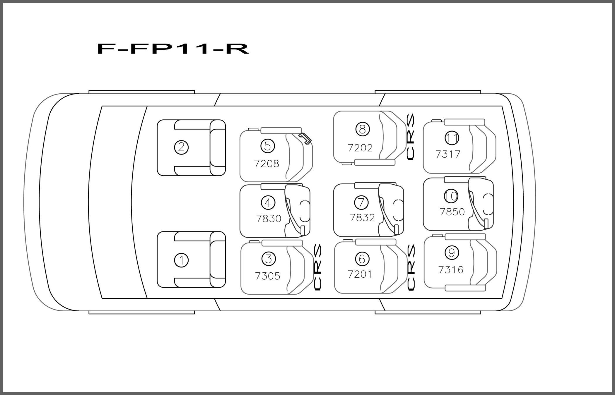 Ford/Chevrolet 11 Passenger  Ford 350/Chevrolet 3500  Non-Extended