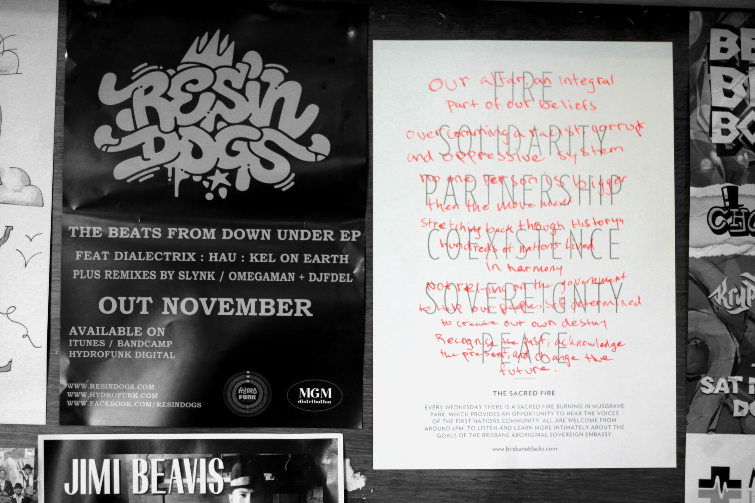 In the beginning we asked shops to help us spread the good word by hanging the posters in their stores.