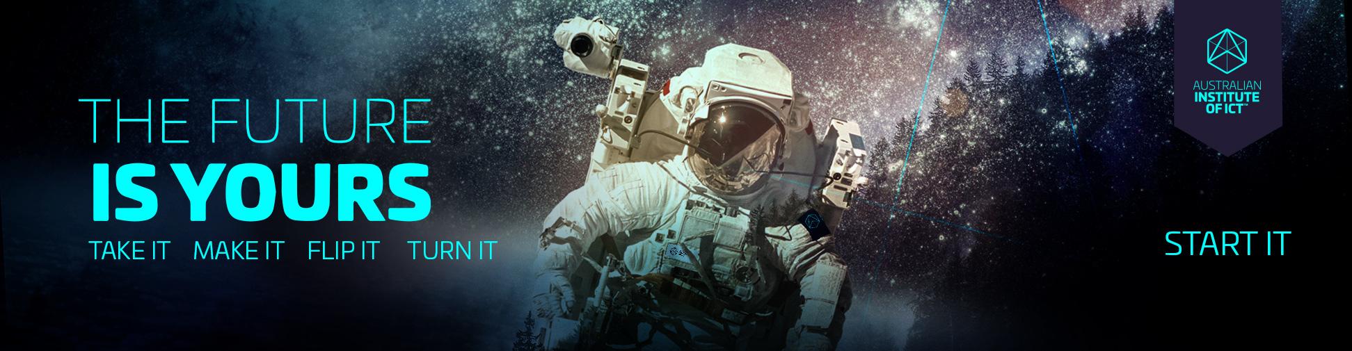 Space man mural design