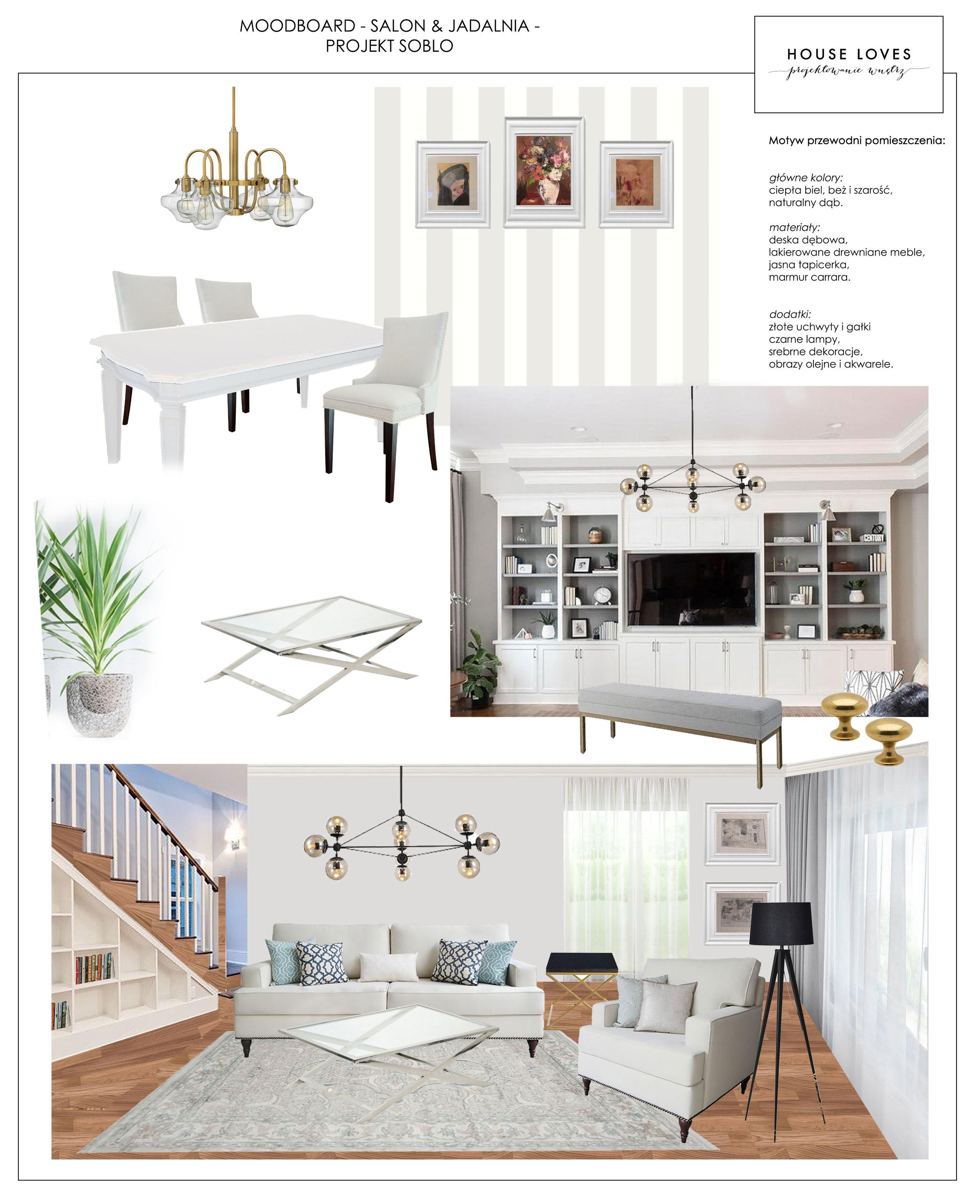 Salon W Stylu Nowojorskim Klasycznym Projekt Soblo House