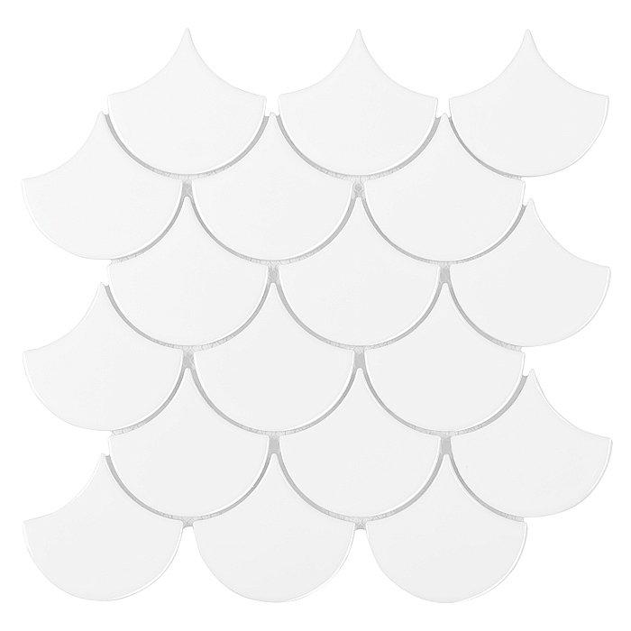 MINI FISH SCALE WHITE 88