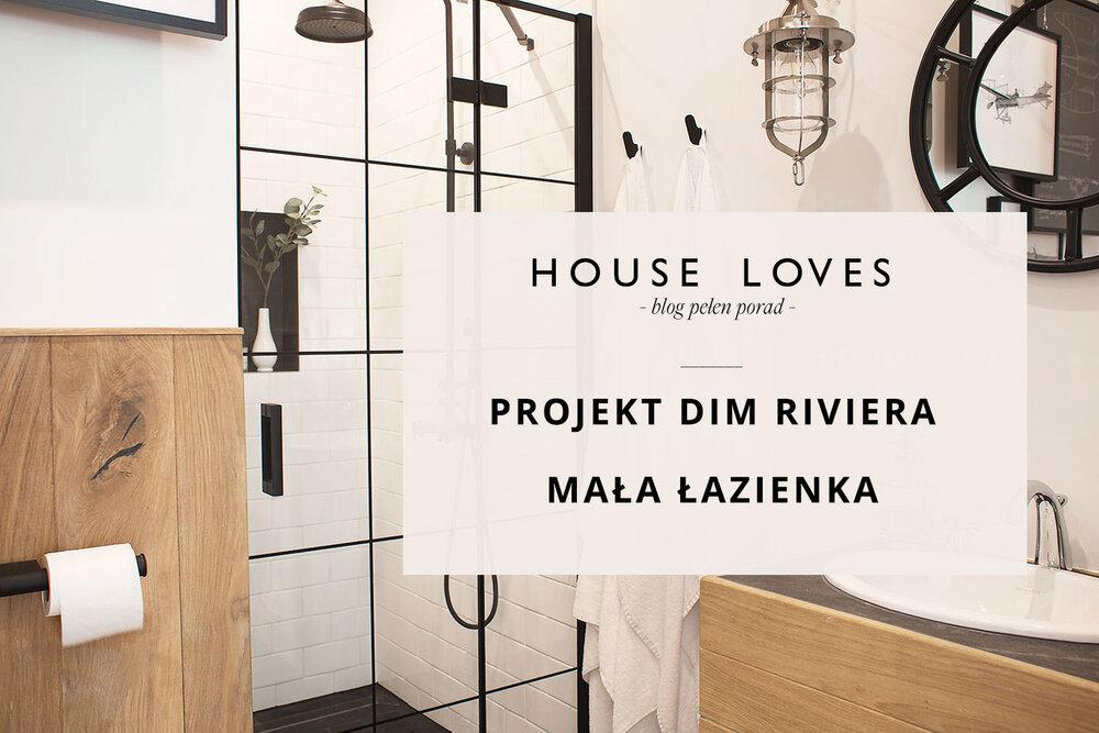 Projekt Dim Riviera Mała łazienka Z Loftowymi Drzwiami