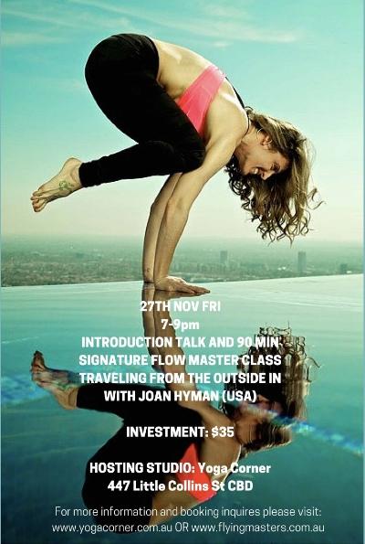 Yoga Corner Melbourne hosts Joan Hyman