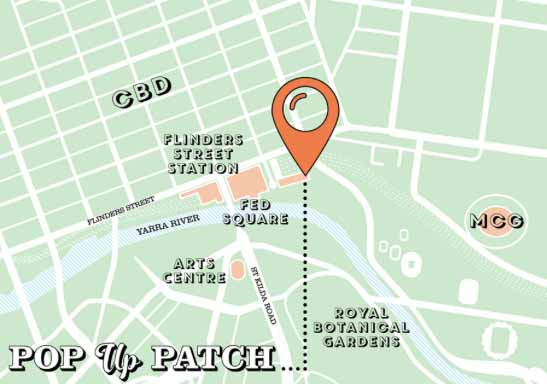 Yoga Corner Melbourne event at Pop Up Patch Map