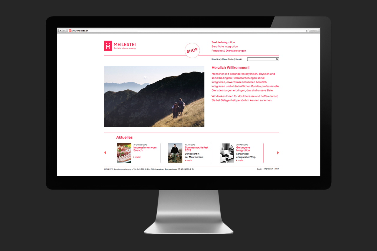 Meilestei Corporate Website