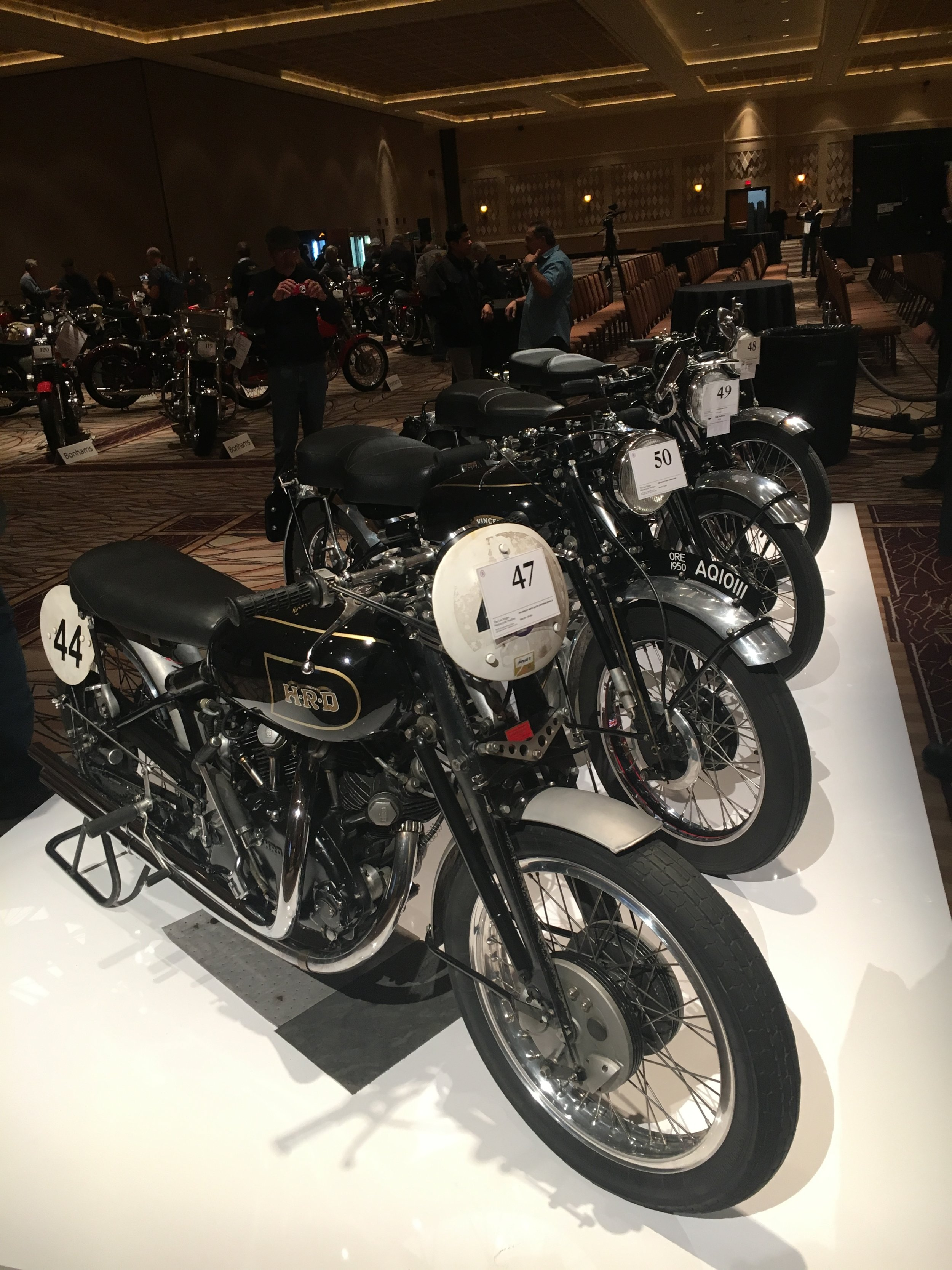 Holy grail of motorcycles the Vincent's.