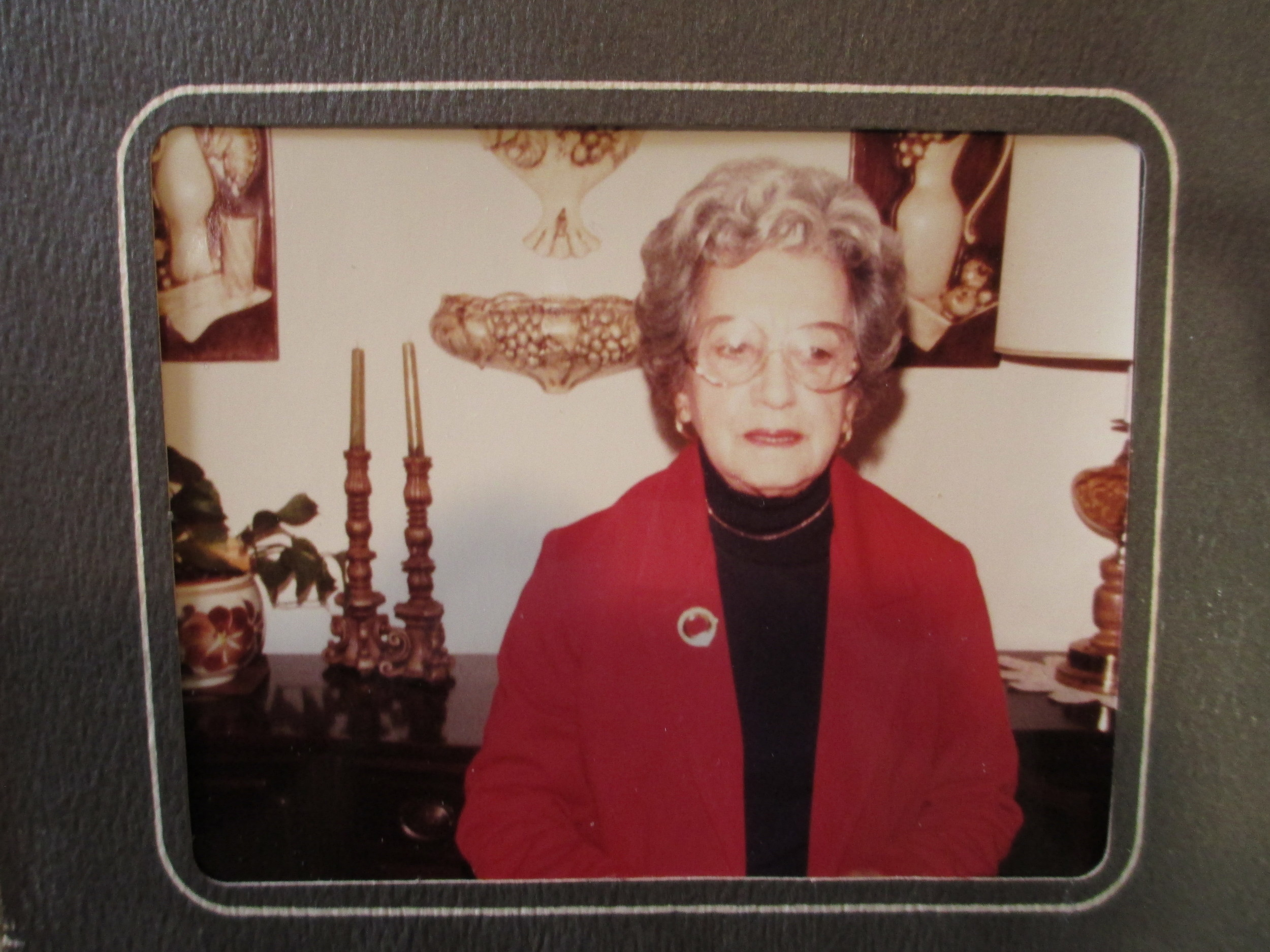 """Nanny, my grandmother, in 1981. Nanny always used Crisco brand shortening. Nanny would say she wasn't much of a cook, (although, aside from red meat which she liked cooked until it was """"tough as shoe leather"""" everyone disagreed; and no one ever left her table dissatisfied) & she made glorious pies."""
