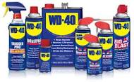 "W-D 40   will clean mineral build-up off glass shower doors, too. And kill cockroaches, remove gum from hair, keep squirrels from raiding bird feeders (spray   W-D 40   on the top of the feeder and ""The pesky squirrels will slide right off."""
