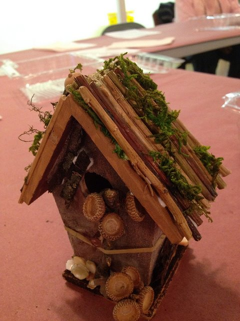 One of the Fairy Houses created during Barb's workshop.