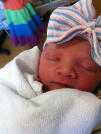 Welcome to the World Felicity Allain Smith, born June 9th, 2014.