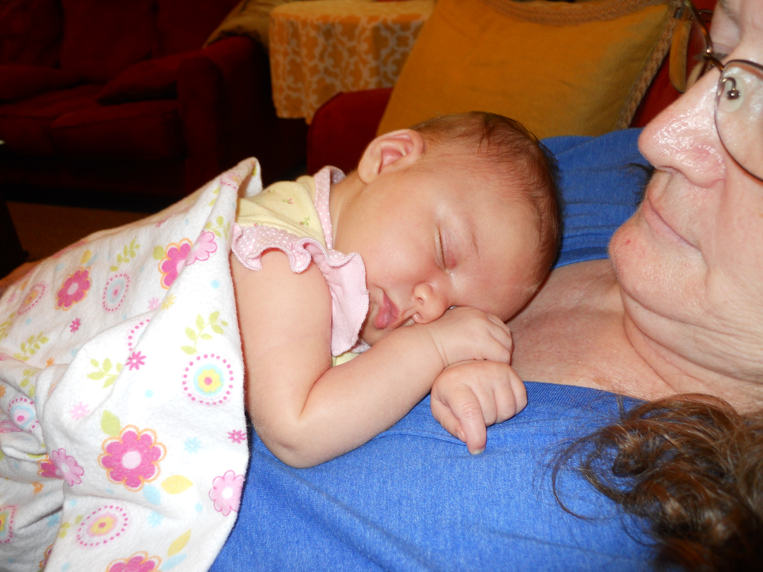 Liz with her newest gran, Felicity, born July 19th, 2014