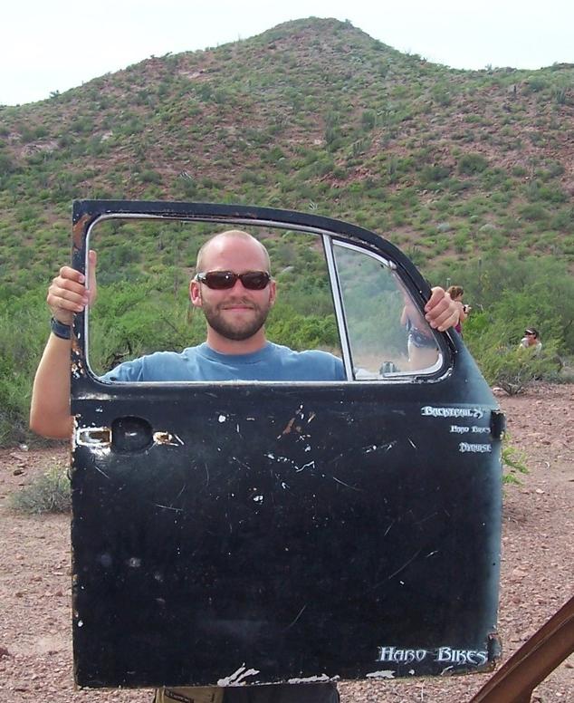 Max in Prescott, AZ (note the squatter behind him.)