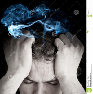 Stock Photo: Stressed man with  smoking head   More   www.dreamstime.com