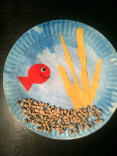 Check out Norman's Goldfish Bowl Collage! He loves it!