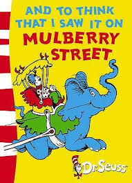 Recently, in light of our collective efforts to be more culturally sensitive, this book (which was brought to mind by the title of this prompt) is being banned because a   mural in the Dr. Suess Museum   depicted a scene from this book has been deemed racist. The mural, or that section of the mural, is being replaced. I am not sure where this leaves this first book by the beloved Dr. Seuss.To read or not to read it, is a question for you to decide. To ban it is shut the door on an important conversation.  (As Theo is long gone, he can't weigh in on the discussion.)