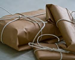 Brown paper packages tied . . .
